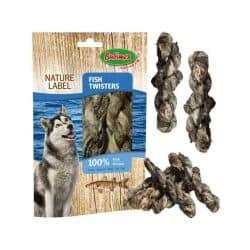 Friandise pour chien au poisson Fish Twisters 60gr